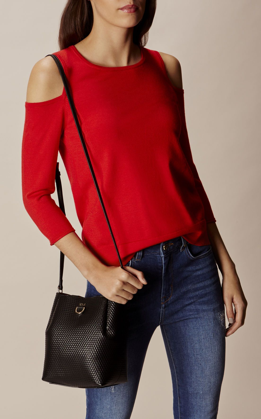 1b09b6a30 Karen Millen, SMALL EMBOSSED DUFFLE BAG Black 1 | Because Bags ...