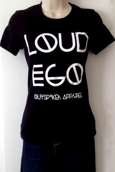 Ladies Logo tee by Loud Ego Apparel www.loudegoapparel.com.