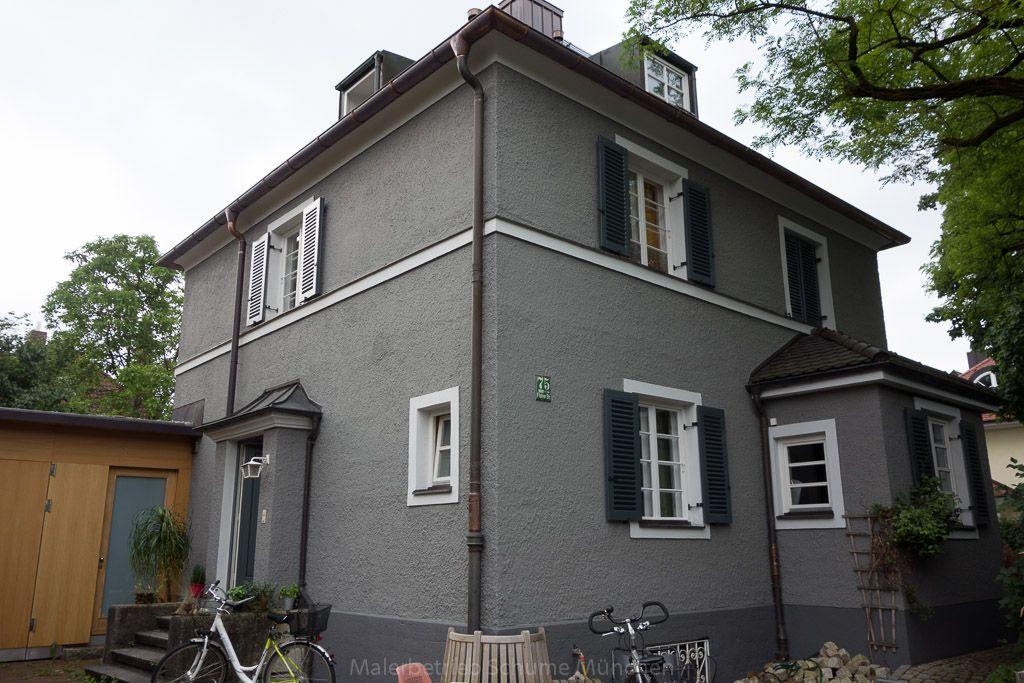 klinker streichen vorher nachher farbe warmes grau hausfassade warmes grau grau und. Black Bedroom Furniture Sets. Home Design Ideas