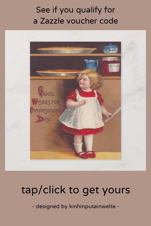 Girl & Pies Holiday Postcard