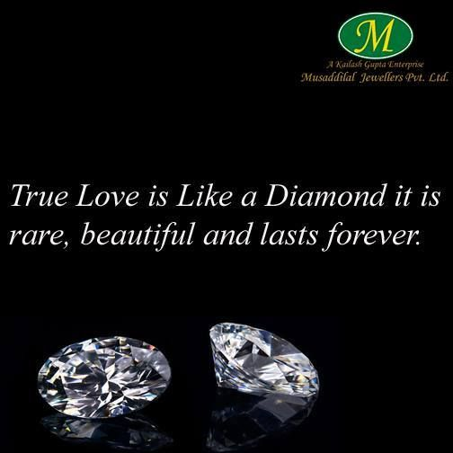 99abcd7e9385 True Love is Like a Diamond it is rare beautiful and lasts forever.  #musaddilal_jewellers #diamonds