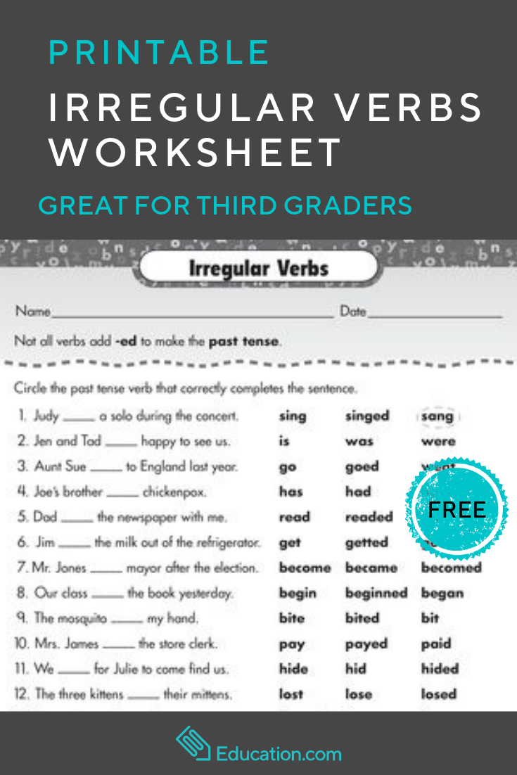 Use This Irregular Verbs Worksheet To Give Your Child Some Irregular Verbs Exercises That Will Help Develo Search Marketing Real Estate Infographic Real Estate [ 1102 x 735 Pixel ]