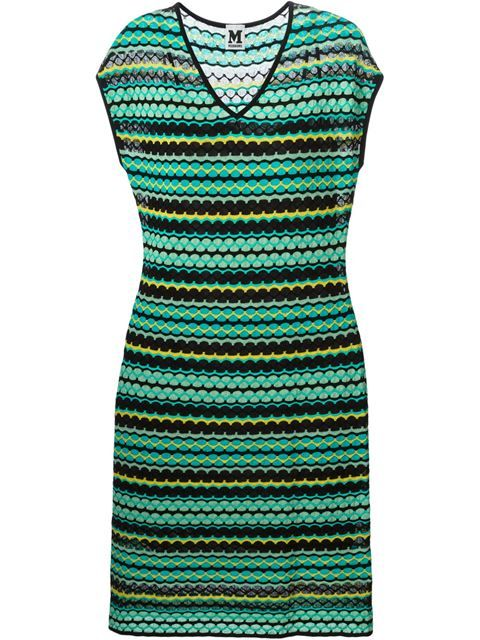 5dad11ea0c5 Shop M Missoni jacquard knit dress in Monti from the world s best  independent boutiques at farfetch.com. Over 1500 brands from 300 boutiques  in one website.