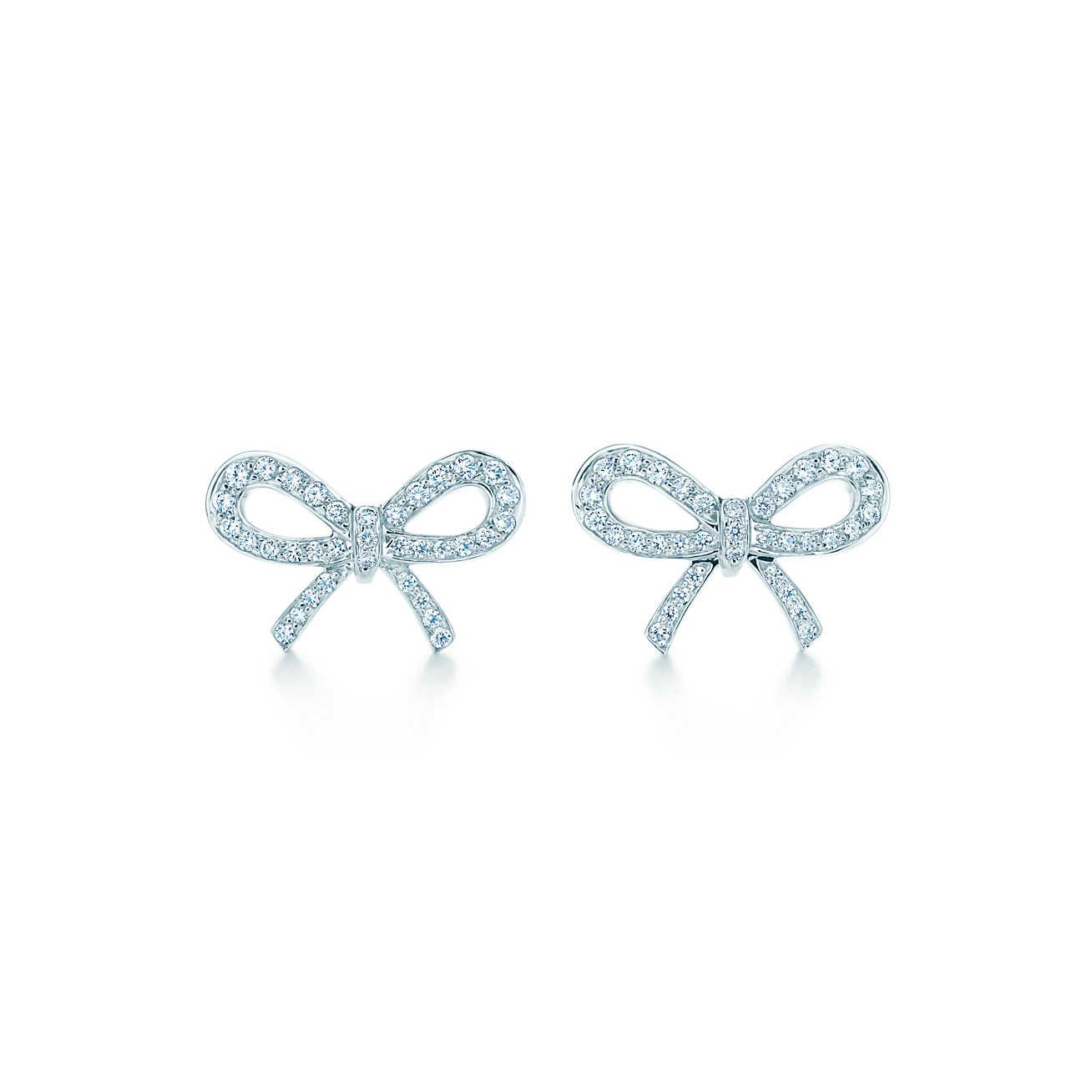 Earrings Accessories Bow Diamond Bows Tiffany