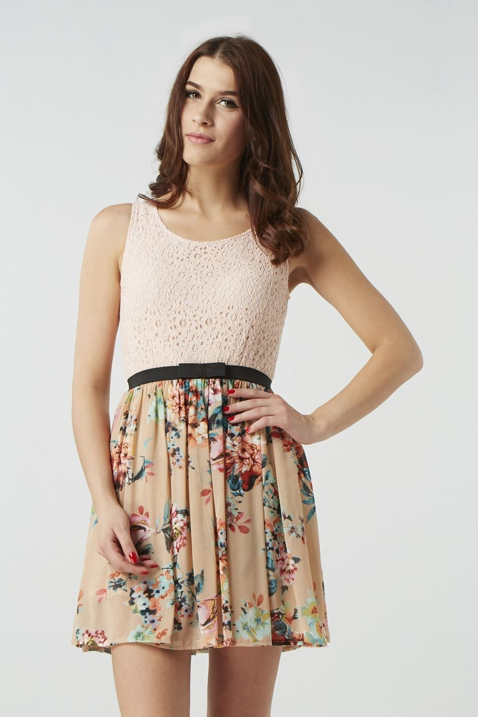 Crochet bodice skater dress at izabel shoes and clothes