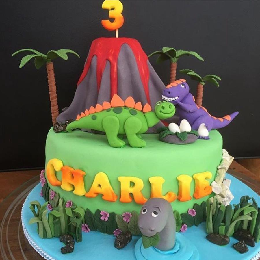 Dinosaur cake - Cake by Karen Blunden Delightful..Fun ...