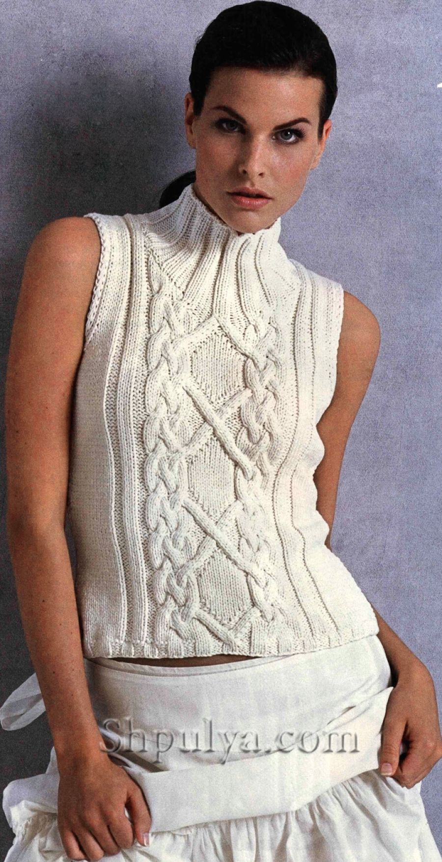 www.SHPULYA.com - Топ с косами спицами | Knitter | Pinterest ...