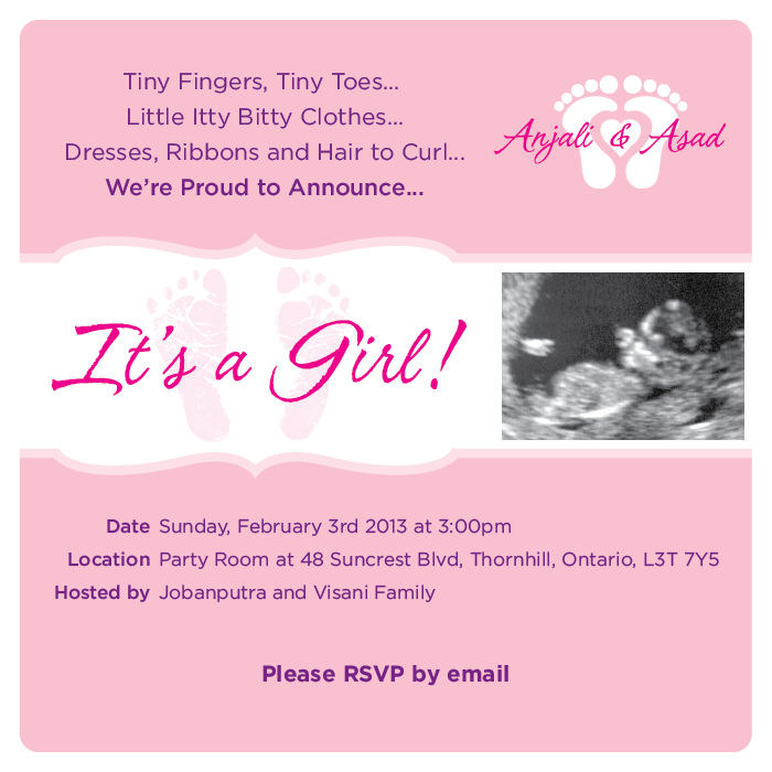 baby feet shower invitation
