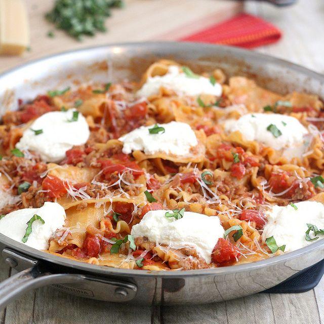 Skillet Lasagna. yum