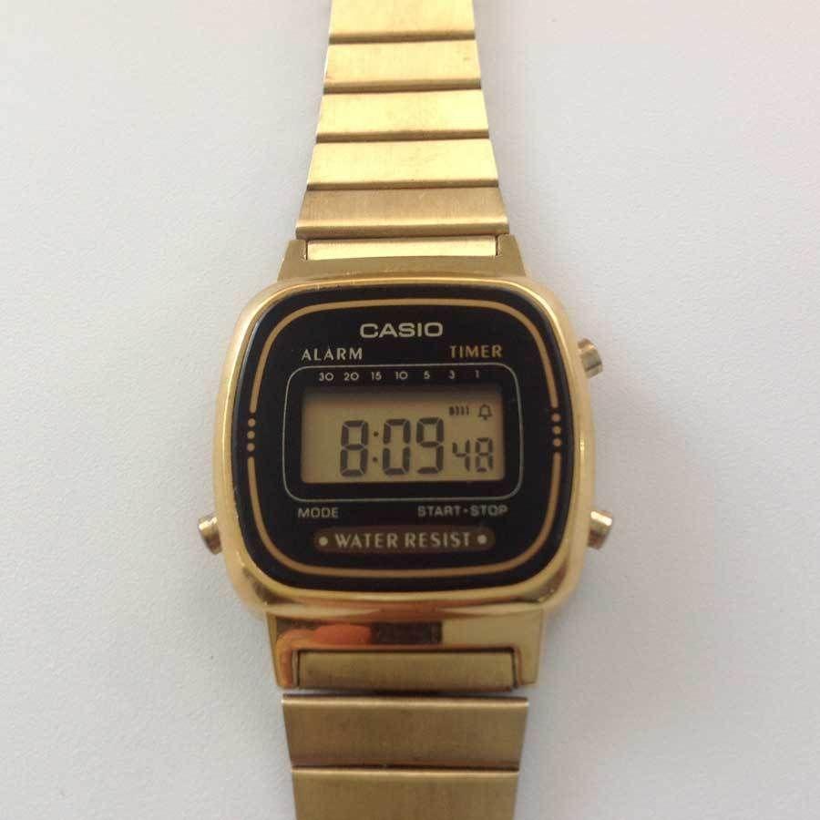 a043801d886 Vintage Casio 3191 LA670W GOLD hand wrist watch Water Resistant WORKING!!    Casio