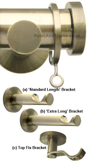 Lunar 28mm Burnished Brass Pole Set With End Stops In 2020 Heavy