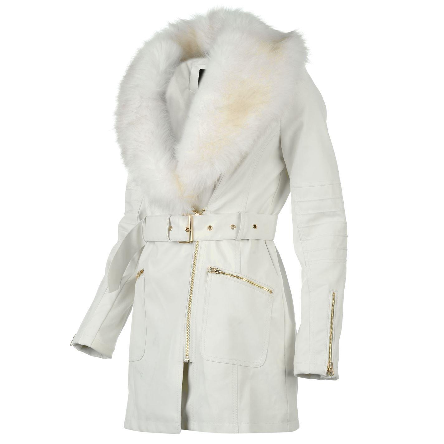 3f83b2427ebb Golddigga | Golddigga Long PU Jacket Ladies | Ladies Jackets and Coats
