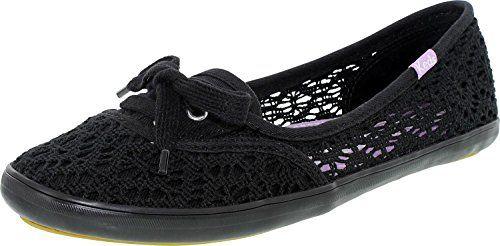 Canvas Shoe 6m Black Ankle Teacup Flat Crochet Women's High Keds zYOp88