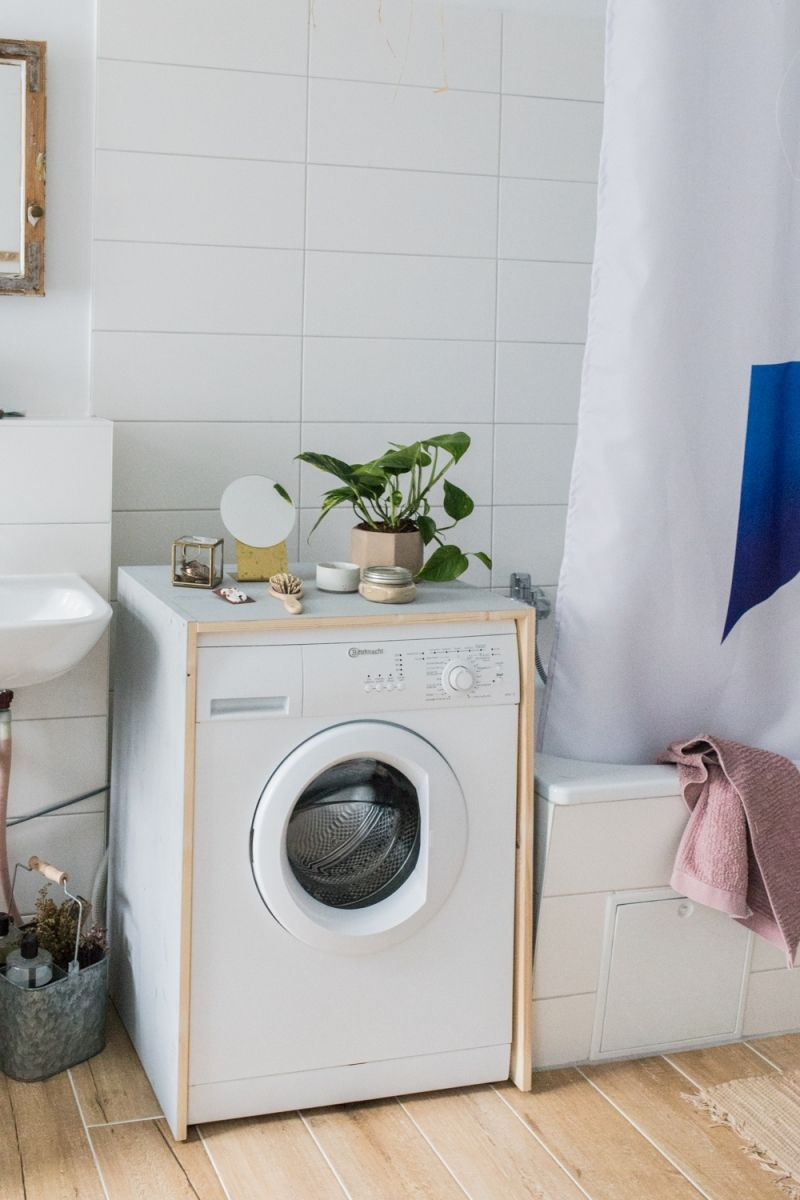 Diy Waschmaschinen Verkleidung Doitbutdoitnow Waschmaschine Regal Uber Waschmaschine Wasche