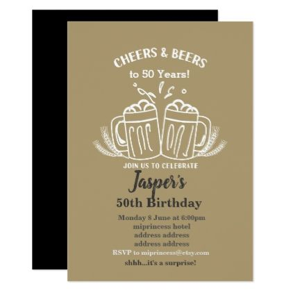 Beers birthday invitation cheers to any years card invitations beers birthday invitation cheers to any years card invitations custom unique diy personalize occasions stopboris Image collections