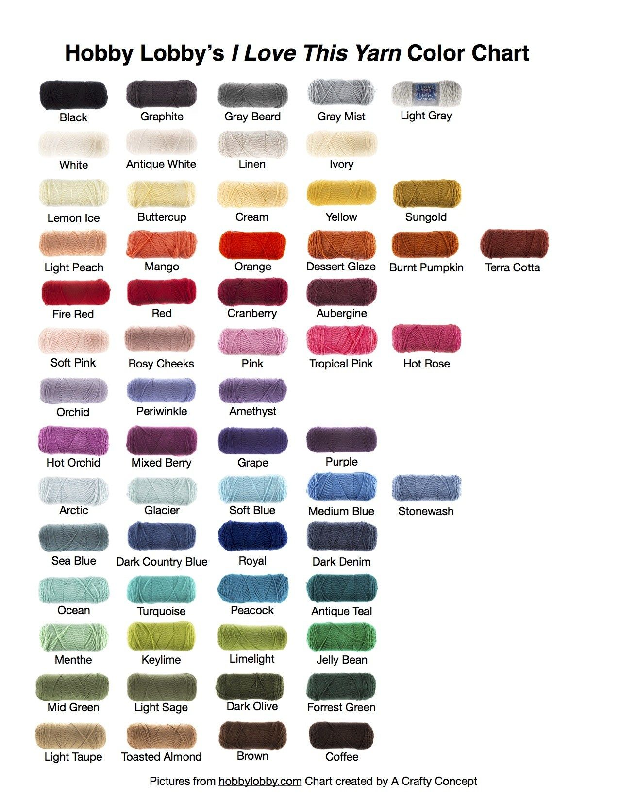 Hey Guys I Just Posted A Free Pdf Color Chart Printable On My Blog For All The Solid Colors Of I Love I Love This Yarn Yarn Colors Yarn Color Combinations