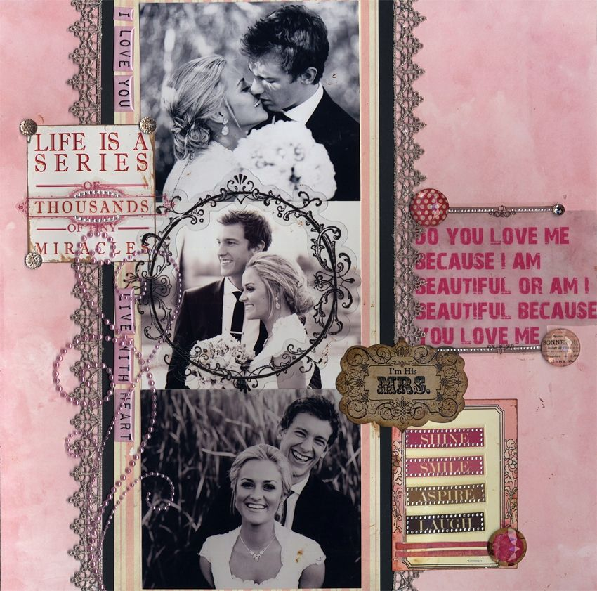 Wedding Do you Love me Because I am Beautiful - Scrapbook.com