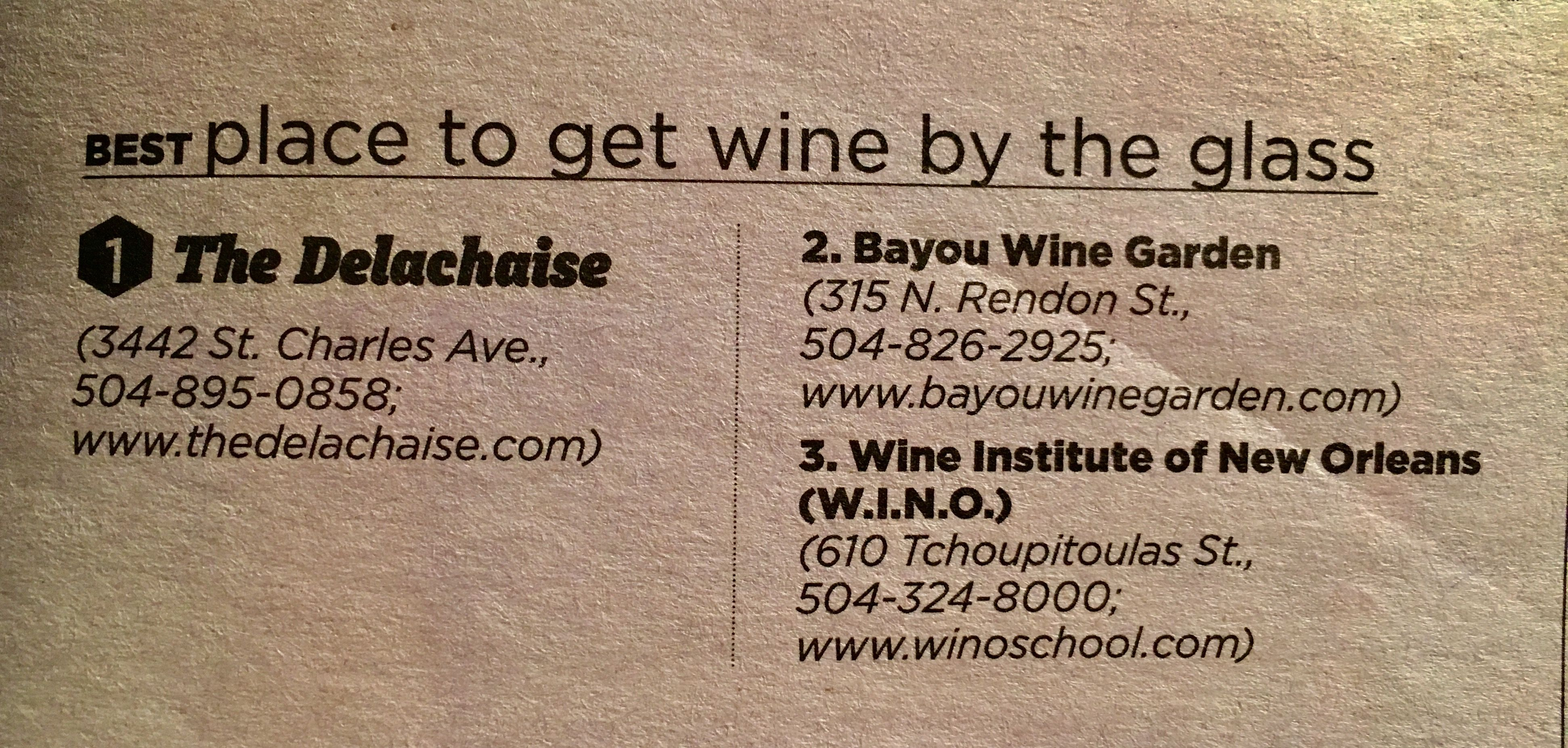 New Orleans Best Places to Get a Glass of Wine Bacchanal Wine Bayou ...