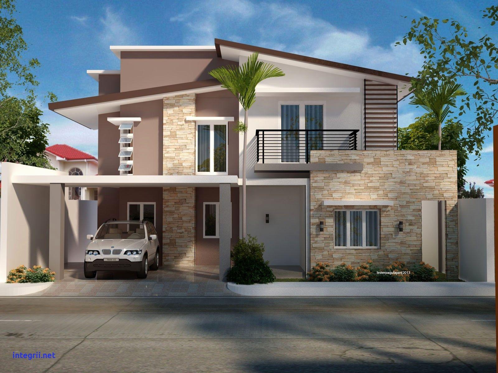 House Plans New Modern Two Story Desain Rumah Kontemporer Eksterior Rumah Modern Rumah Kontemporer