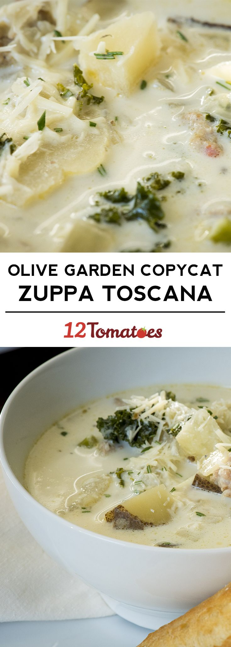 Our favorite Zuppa Toscana - just like at Olive Garden! #zuppatoscanasoup