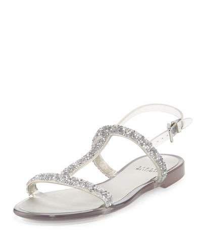Teezer Crystal Jelly Sandal, Black