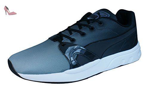 Ignite Suede, Sneakers Basses Mixte Adulte - Gris - Grau (Glacier Gray 01), Taille 37 EUPuma