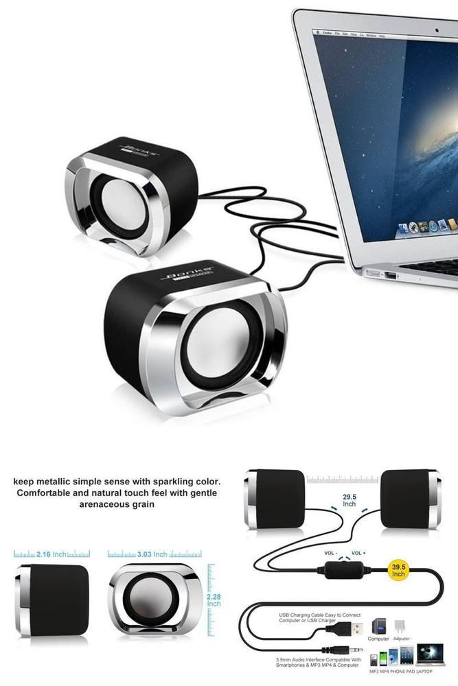 Wired Computer Speakers USB 2 0 Powered Stereo Sound