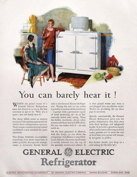 1929 General Electric Refrigerator Ad Frank Bensin Art