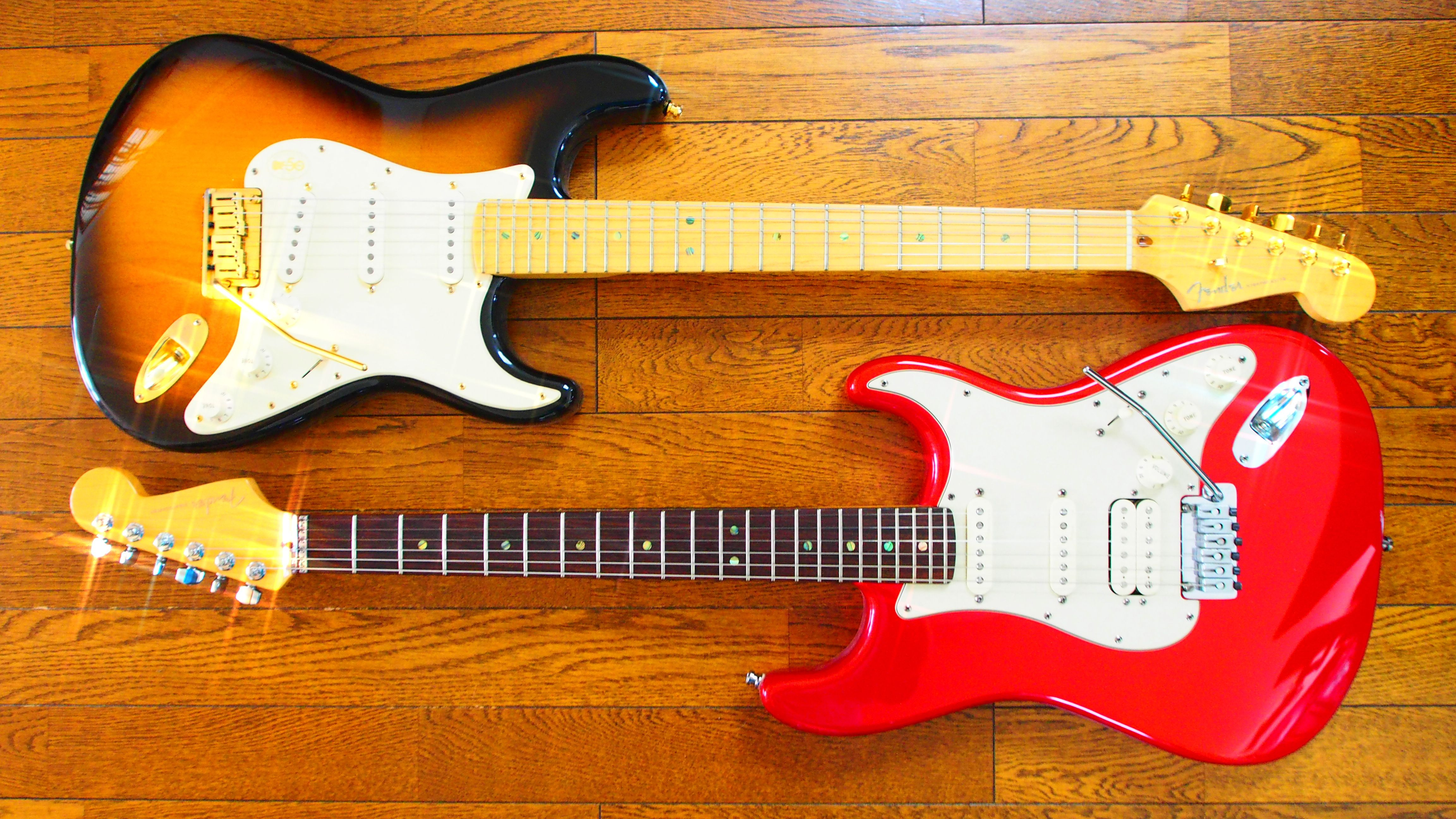 Fender American Deluxe Stratocasters (50th anniversary and Fat)