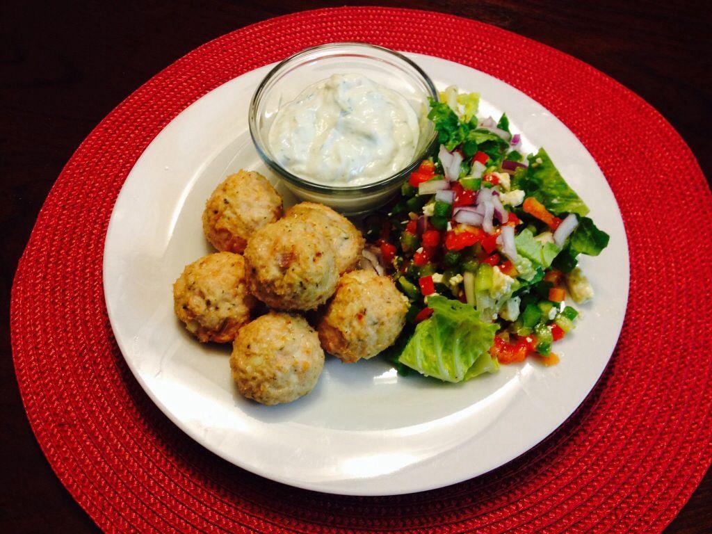 Greek chicken meatballs #idealproteinrecipesphase1dinner