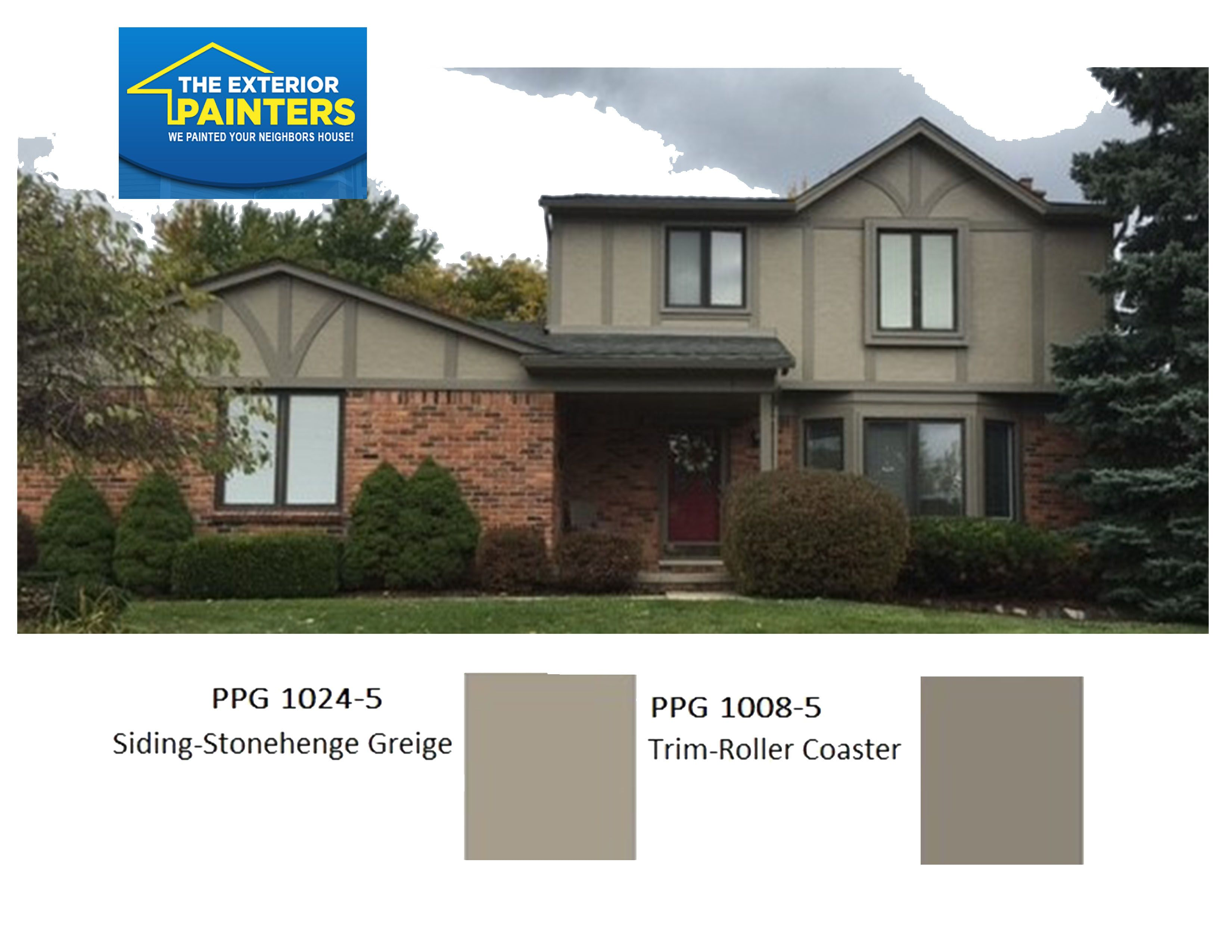 Ppg 1024 5 stonehenge greige for the stucco ppg 1008 5 - Best roller for exterior painting ...