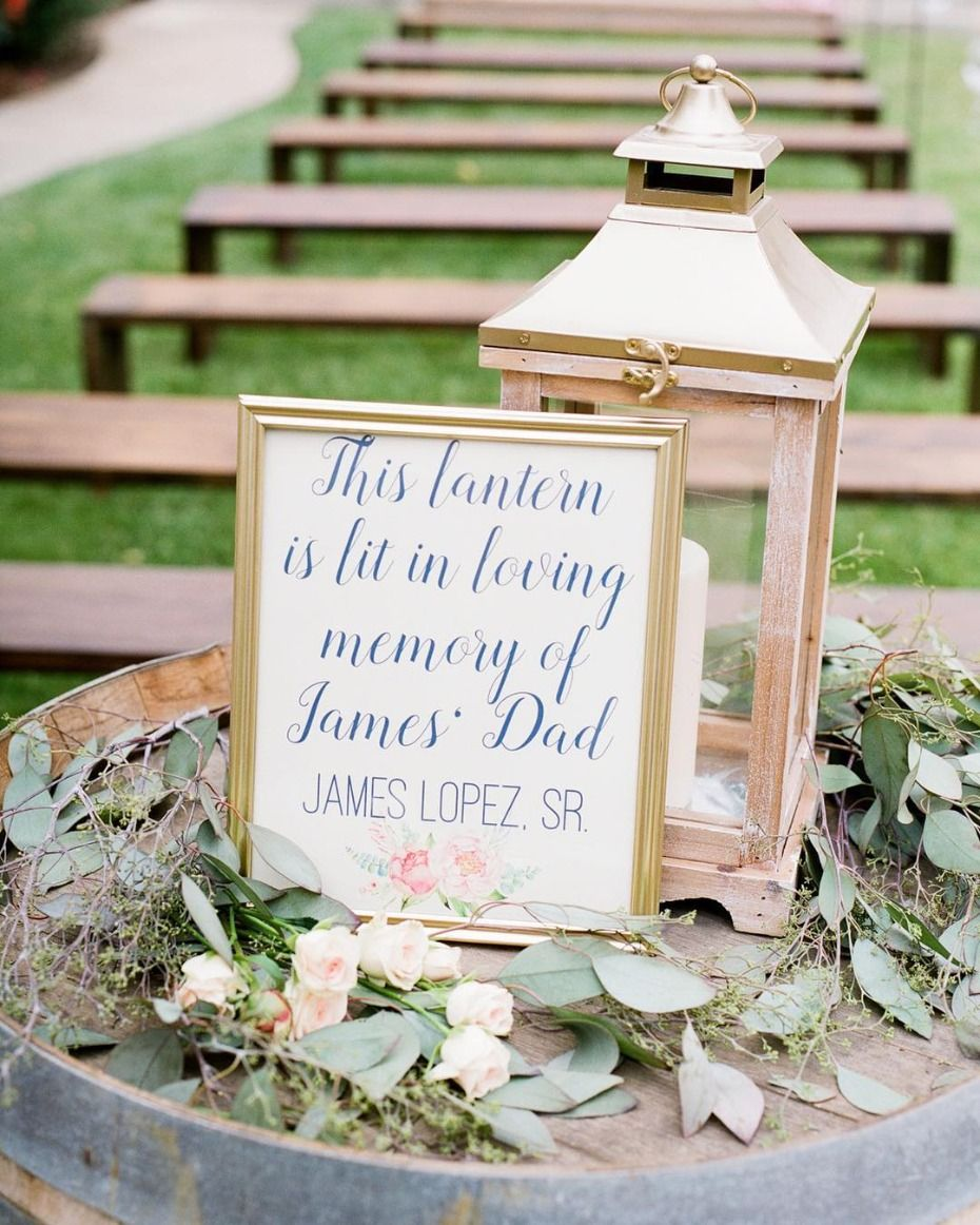 10 Ways to Honor a Lost Loved One at Your Wedding | Wedding ...