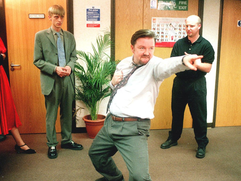 Ricky Gervais Famed Painfully Akward Dance In His Own And Stephen Merchant Created Series For Bbc The Office From 2001