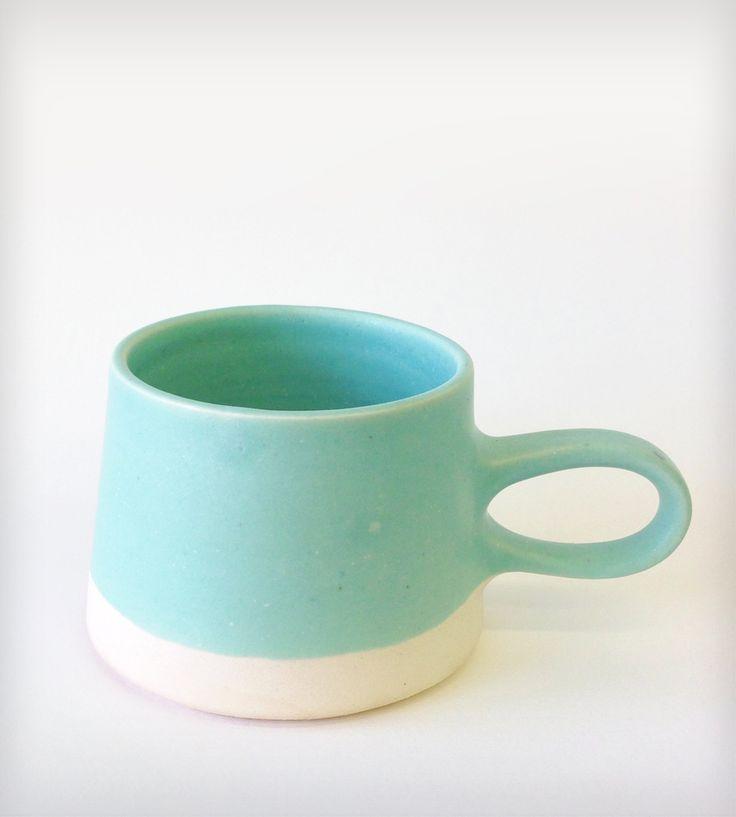 Copenhagen Aqua Ceramic Coffee Cup