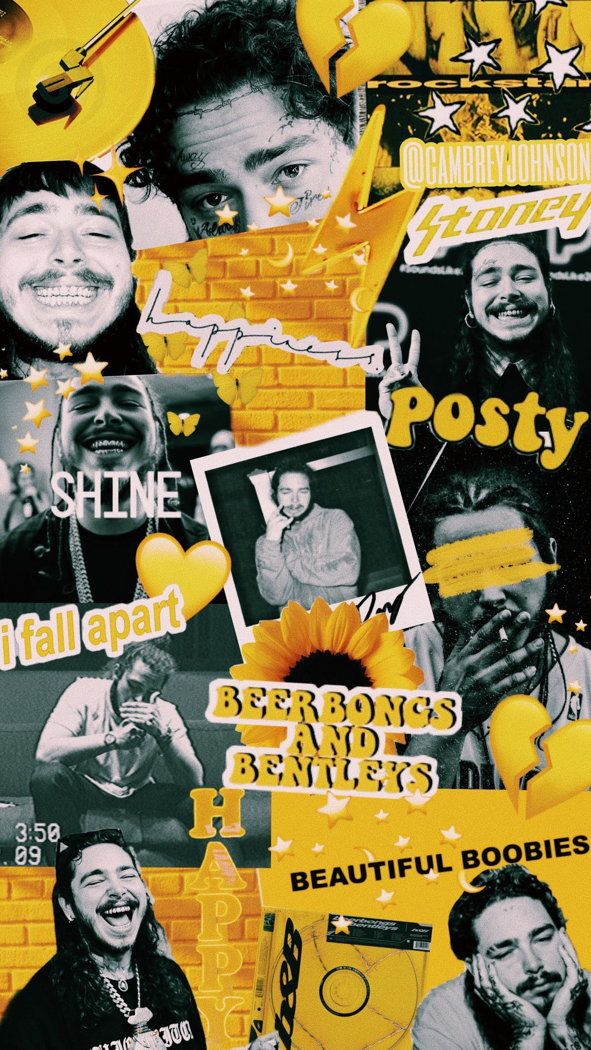 P I N Paulinaagomeez Post Malone Wallpaper Collage