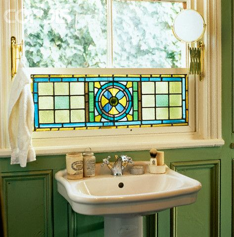 stained glass over sink Bathroom Remodel Pinterest Google
