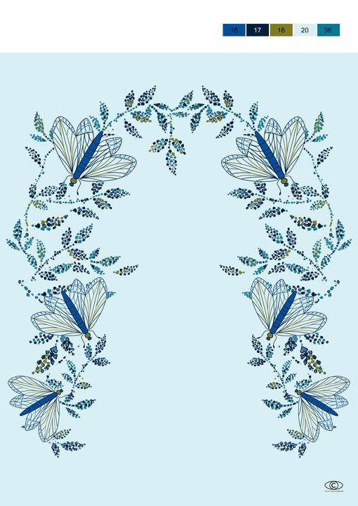 CarlinGroup: Tendance Apparat - Kids FW 2017-18 - Smart casual: The « mirror » motifs renew embroideries in « winged flowers »: a vision both intriguing as well attractive.