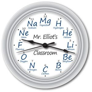 Personalized Chemistry Science Wall Clock Teacher Gift Teacher Gifts Chemistry Diy Teacher Gifts