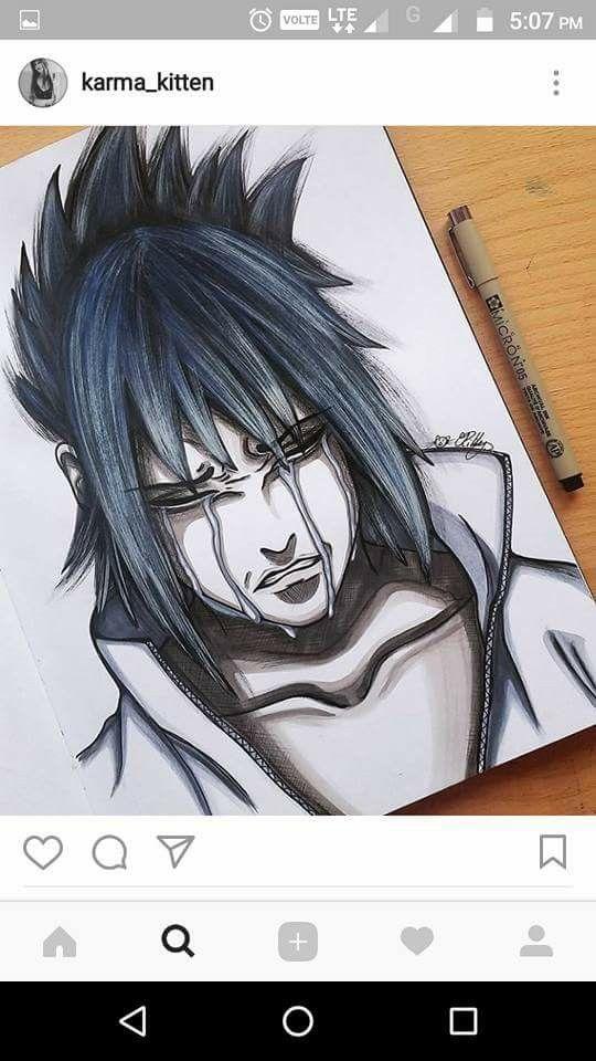 Sasuke Uchiha Crying Drawing ♥♥♥ #Perfect #Sad   Naruto ...