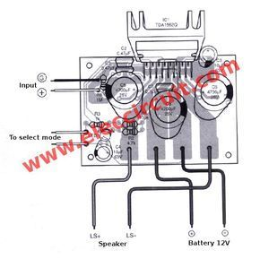 12v Car Audio Amplifier Circuit 50w 65w With Pcb Eleccircuit