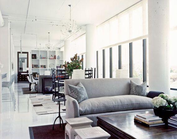 Lovely Gray Linen Sofa