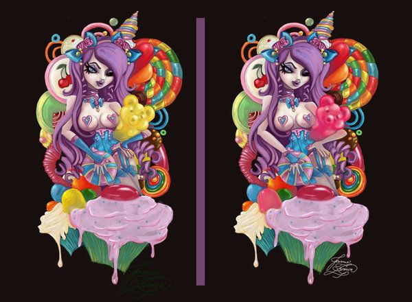 Candy Tattoo Commission by MissJamieBrown.deviantart.com ...