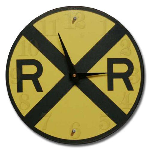"""Railroad Crossing Wall Clock, 10"""" - 60"""", Whisper Quiet, non-ticking *** Check out this great product."""