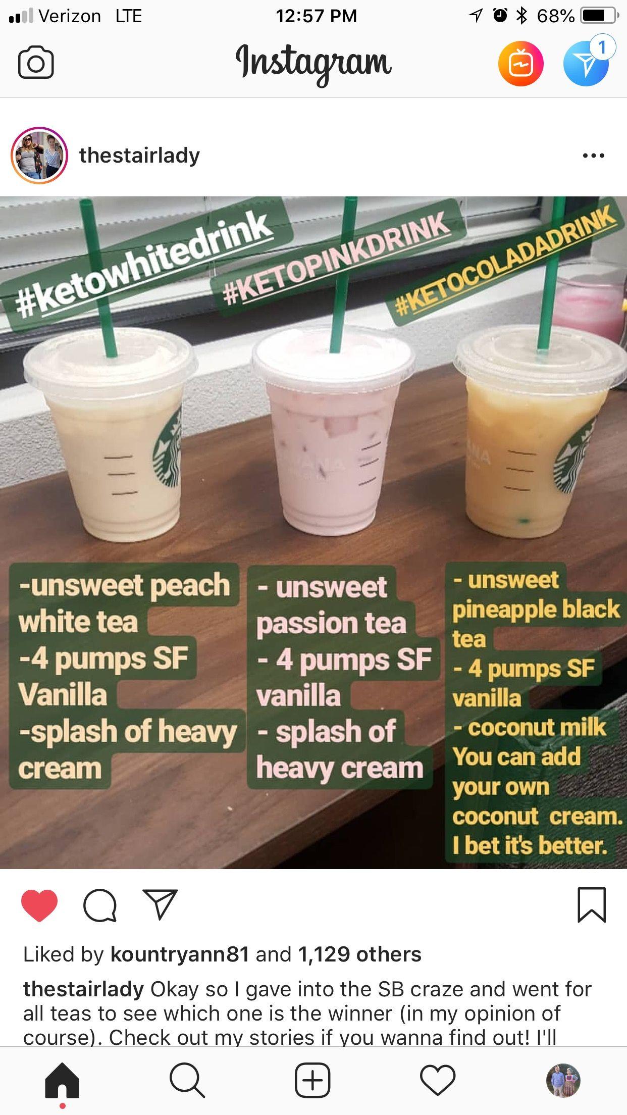 starbucks drinks for keto diet