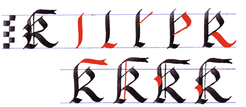 Gothic Writing Capital Gothic Letters A Z Letter K