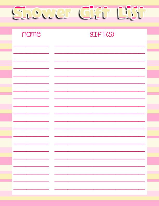 Free Printable Baby Shower Checklist | baby shower gift list ...