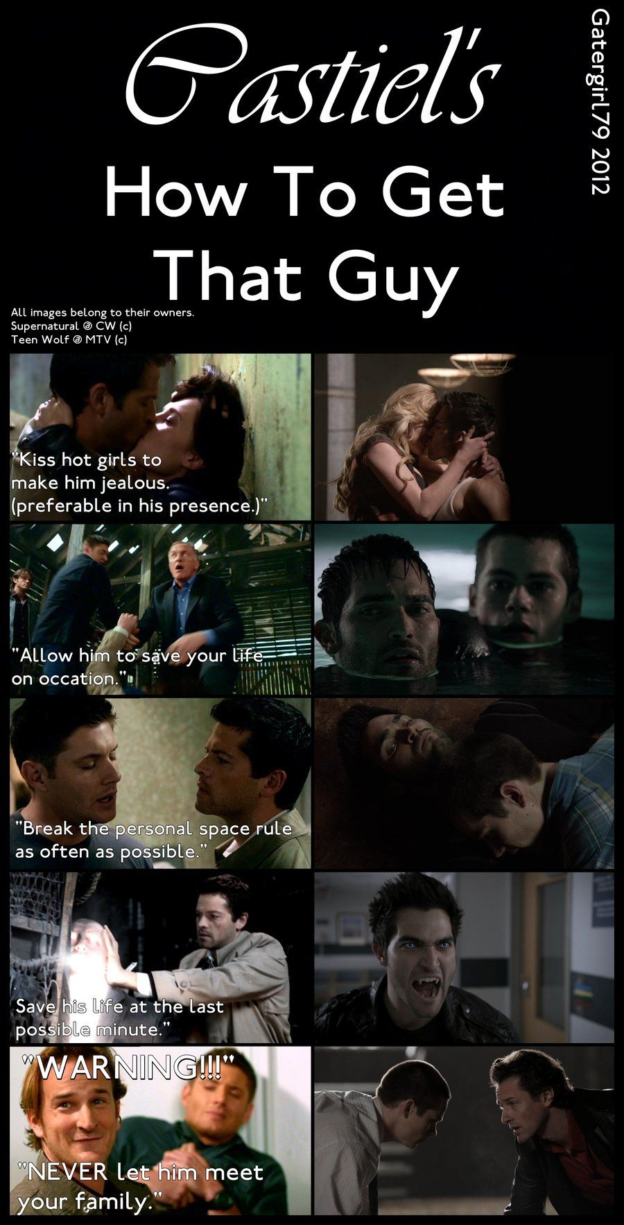 Castiel's How To Get That Guy Pt 2 by Gatergirl79.deviantart.com   Again featuring Sterek!