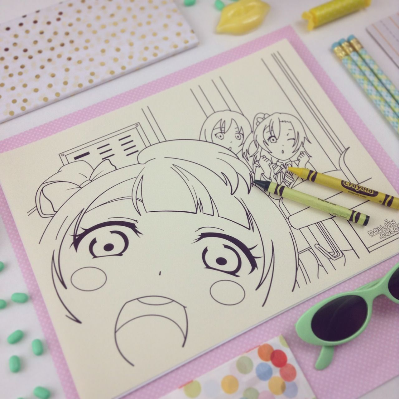 Doujincolor Free Coloring Pages Anime Love Anime