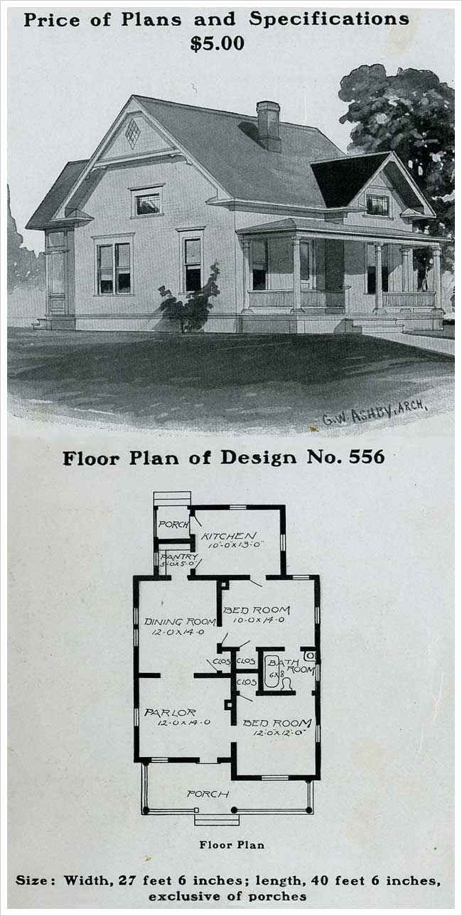 Radford 1903 Simple Queen Anne Cottage With Full Porch Queen Anne House Vintage House Plans Cottage House Plans