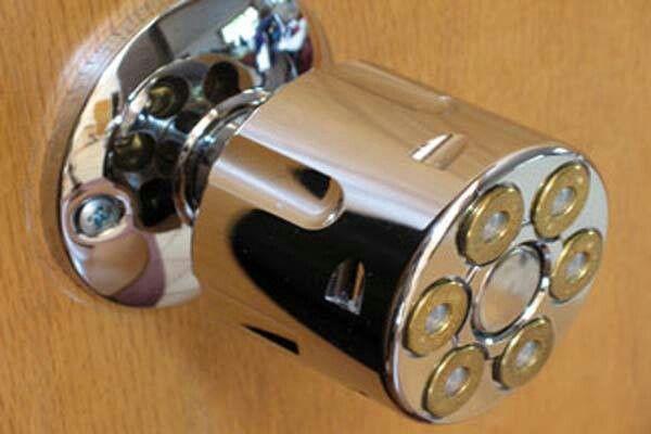 Gun Cylinder Door Knob - omg mom we HAVE to find this for dad ...